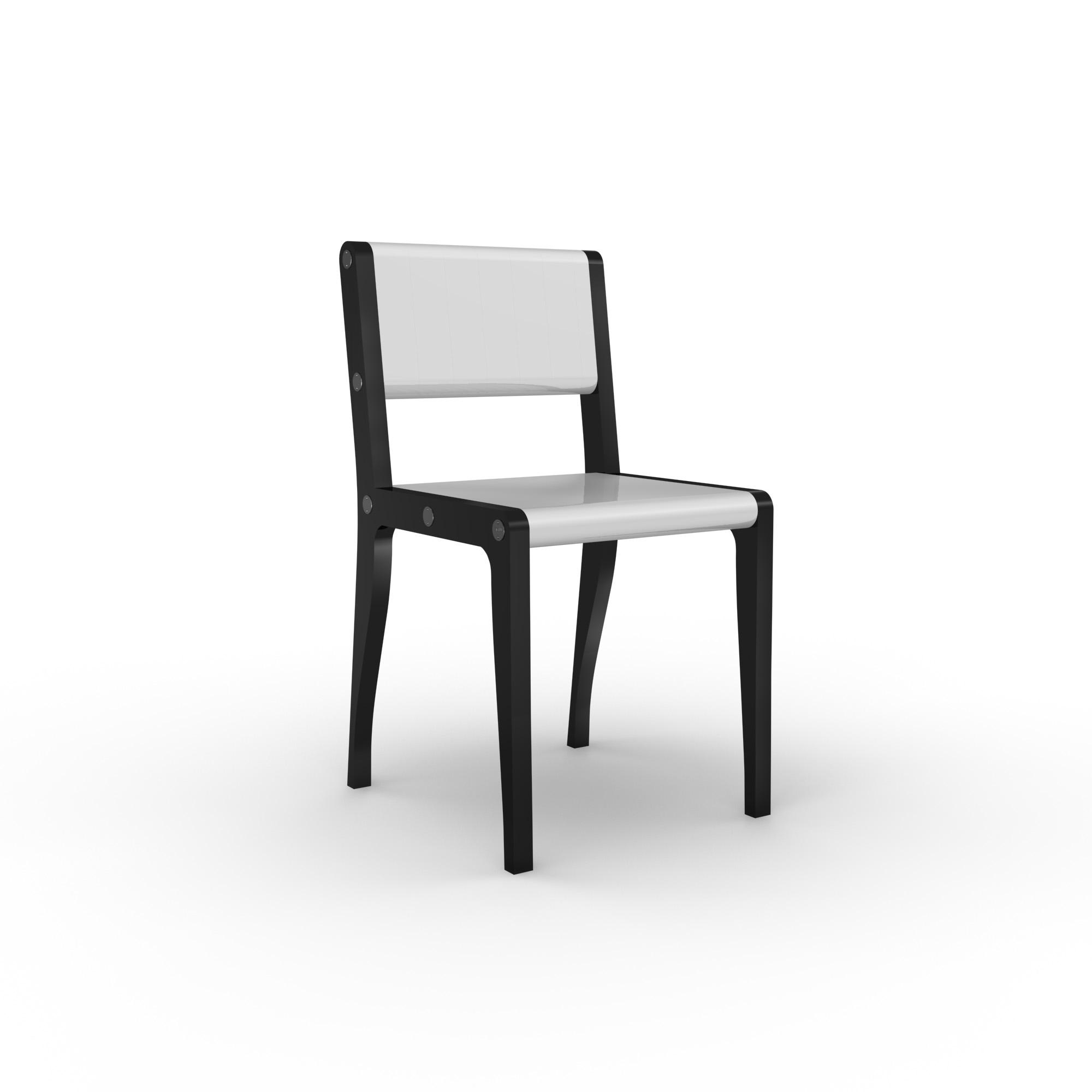 diseño industrial santander - Beusual - Sirak - silla black and white 2
