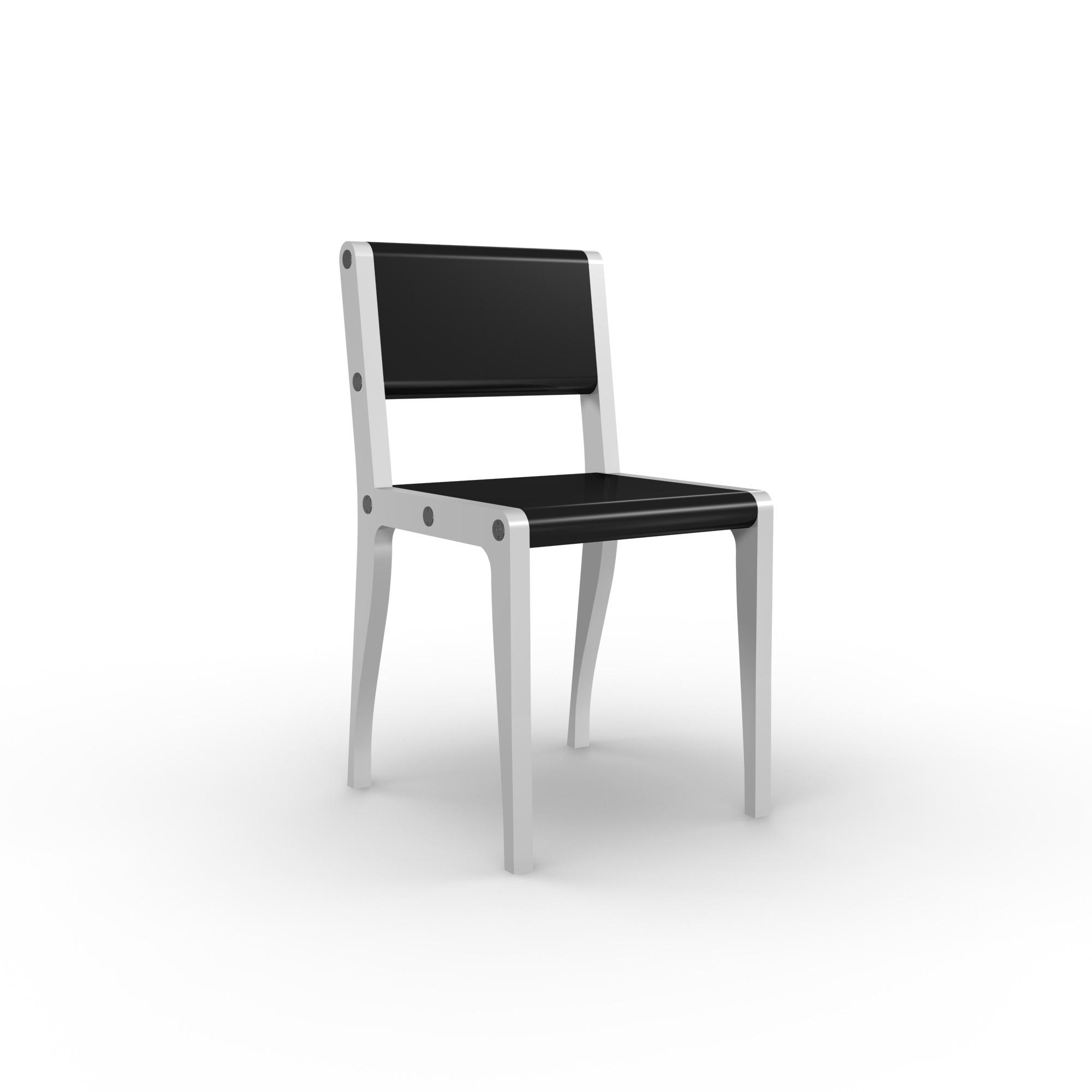 diseño industrial santander - Beusual - Sirak - silla black and white