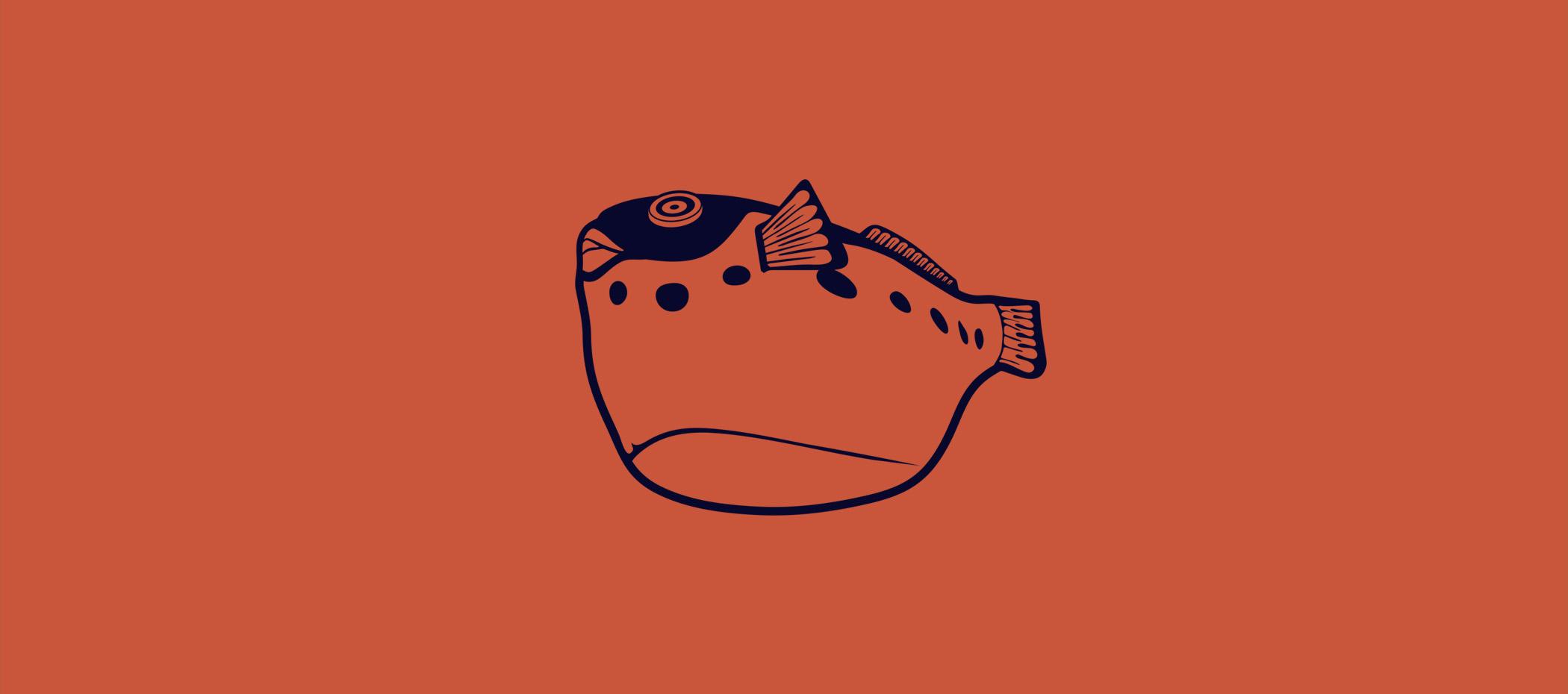 diseño logotipo - Beusual - diseño grafico santander - pez globo