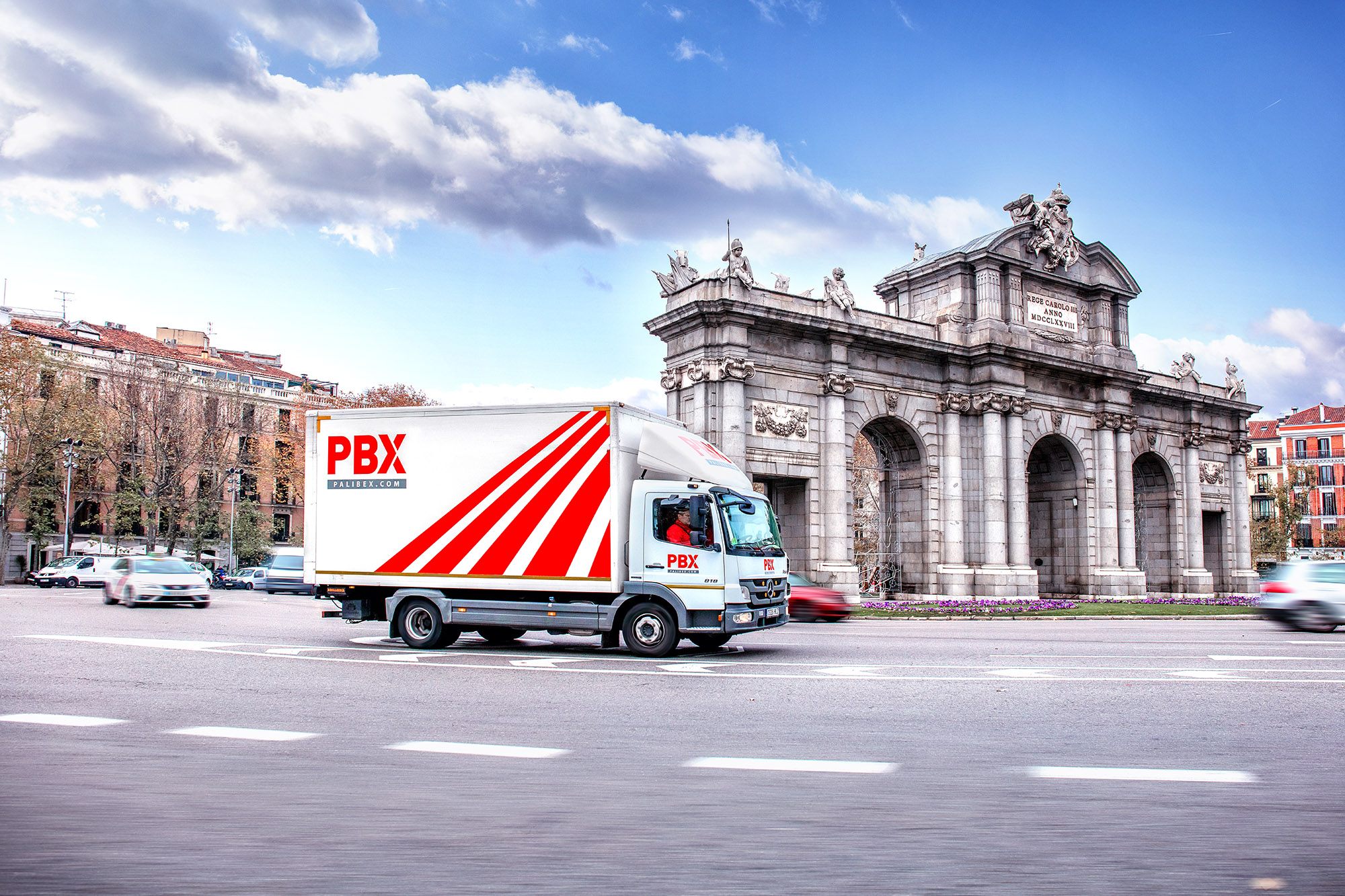 Palibex -PBX -Transporte urgente mercancia paletizada - Beusual -ROTULACION FLOTA PBX