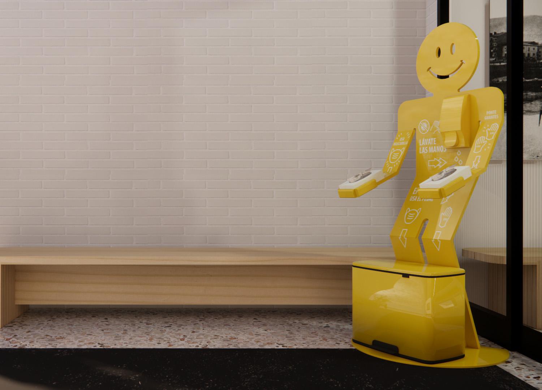 DISPENSADOR DE GEL HIGIENIZANTE - Stand Higiene - hidrogel Beusual